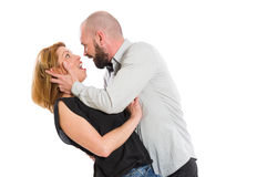Fun couple concept on white background Stock Image