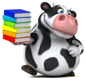 Fun cow - 3D Illustration Royalty Free Stock Images