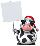 Fun cow - 3D Illustration Stock Images