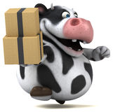 Fun cow - 3D Illustration Stock Photography