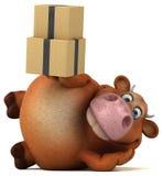 Fun cow - 3D Illustration Royalty Free Stock Photos