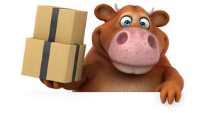 Fun cow - 3D Illustration Royalty Free Stock Photography