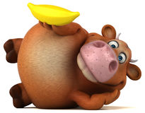 Fun cow - 3D Illustration Stock Photos