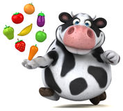Fun cow - 3D Illustration Stock Photo