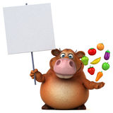 Fun cow - 3D Illustration Royalty Free Stock Image