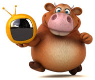 Fun cow - 3D Illustration Royalty Free Stock Photos