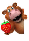 Fun cow - 3D Illustration Stock Image
