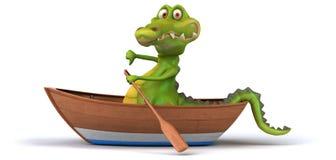 Fun crocodile royalty free illustration