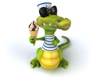 Fun crocodile Royalty Free Stock Photo