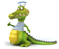 Fun crocodile Royalty Free Stock Image