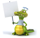 Fun crocodile Royalty Free Stock Photos