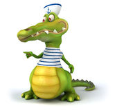 Fun crocodile Royalty Free Stock Images