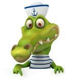 Fun crocodile Stock Image