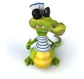Fun crocodile Stock Images