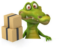 Fun crocodile stock illustration