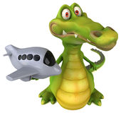 Fun crocodile vector illustration