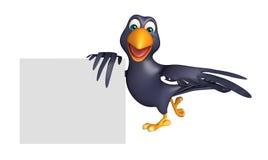 Fun Crow cartoon character Royalty Free Stock Photo