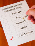 Fun Customer Service Feedback Form Stock Photo