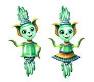 Cute aliens royalty free illustration