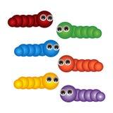 Fun cute cartoon character worm Royalty Free Stock Photography