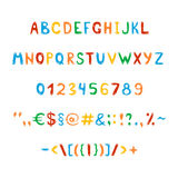Fun and cute childrens alphabet and figures Stock Photography