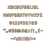 Fun and cute childrens alphabet and figures Stock Image
