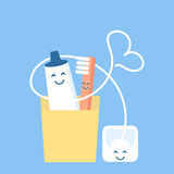 A fun and cute set for hygiene of oral cavity Stock Photos