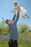 Fun with Dad Stock Photo