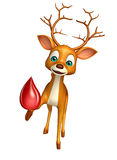 Fun Deer cartoon character with blood Royalty Free Stock Photo