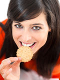 Fun diet woman Stock Images