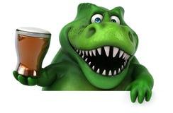 Fun dinosaur - 3D Illustration stock illustration