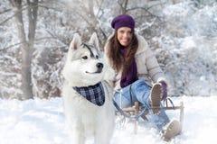 Fun with dog Stock Image