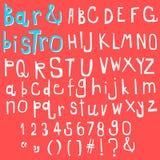 Fun  doodle font collection,hand drawn alphabet set. Doodle alphabet set,fun font Stock Photography