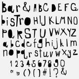 Fun  doodle font collection,hand drawn alphabet set. Doodle alphabet set,fun font Stock Image