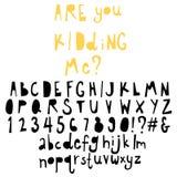 Fun  doodle font collection,hand drawn alphabet set. Doodle alphabet set,fun font Royalty Free Stock Photo