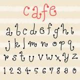 Fun  doodle font collection,hand drawn alphabet set. Doodle alphabet set,fun font Royalty Free Stock Photos