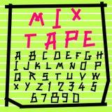 Fun  doodle font collection,hand drawn alphabet set. Doodle alphabet set,fun font Stock Photo