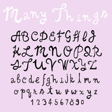 Fun  doodle font collection,hand drawn alphabet set Royalty Free Stock Photo