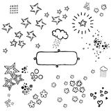 Fun doodles. Creative hand drawings perfect for any ocasion royalty free illustration