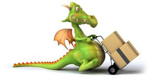 Fun dragon Royalty Free Stock Photo