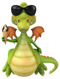 Fun dragon Royalty Free Stock Images