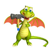 Fun Dragon cartoon character with hammer Royalty Free Stock Photos