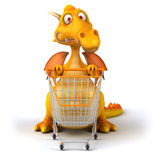 Fun dragon. 3d generated picture Stock Images
