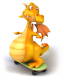 Fun dragon. 3d generated picture Stock Photography