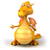 Fun dragon. 3d generated picture Royalty Free Stock Photos