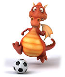 Fun dragon. 3d generated picture Stock Image