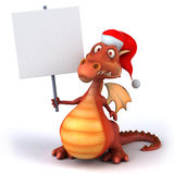 Fun dragon. 3d generated picture Royalty Free Stock Images