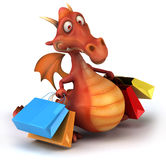 Fun dragon. 3d generated picture Royalty Free Stock Photography