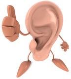 Fun ear. 3d generated picture Royalty Free Stock Image
