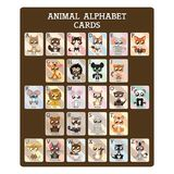 Fun educational animal alphabet cards. Fun educational alphabet cards with cute animals Stock Illustration